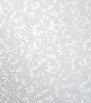 Noel Collection-Christmas Holly Tonal White On White