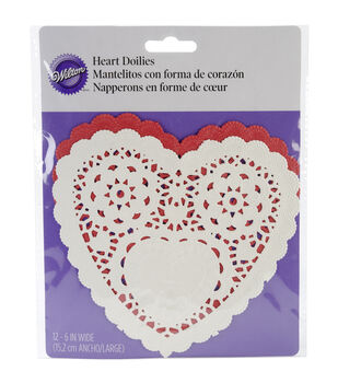 "Wilton® Doilies 6"" 12/Pkg-Assorted Red/White"