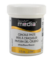 DecoArt Media Crackle Paste 4oz-White , , hi-res