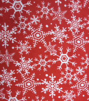 Holiday Inspirations Fabric-Christmas Red Flakes Flannel