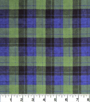 Snuggle Flannel Fabric-Skylar Blue Green Plaid