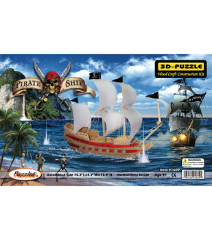 Puzzled Inc 3D-Puzzle Jigsaw Pirate Ship