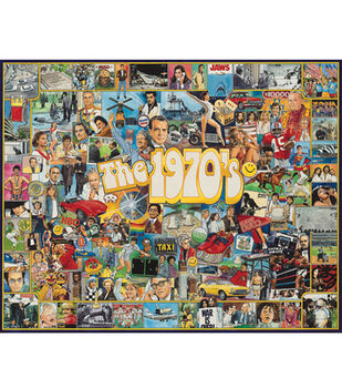 """Ultimate Trivia 24""""x30"""" 1,000 pc. Puzzle-The Seventies"""
