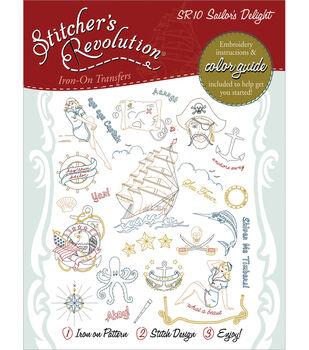 Aunt Martha's Sticher's Revolution Iron-On Transfers-Sailor's Delight