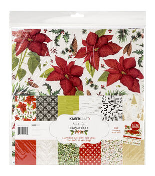 Kaisercraft Home For Christmas 12''x12'' Paper Pack