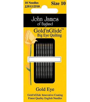 John James Gold'n Glide Big Eye Quilting Needles-2 Sizes