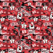 University of Nebraska NCAA Emblem Cotton Fabric, , hi-res