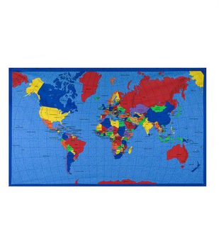 Jo-Ann Stores Novelty Cotton Fabric World Map Panel
