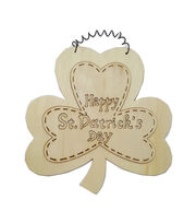 Fab Lab™ Unfinished Wood Happy St. Patricks Day Wall Hanging, , hi-res