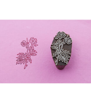 Blockwallah Block Stamp-Flowers