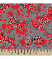 The Walking Dead Blood Splatter Flannel Fabric, , hi-res