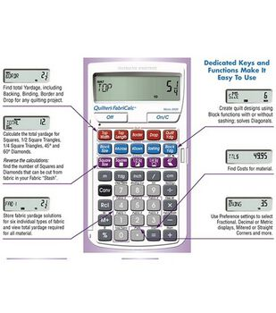 Calculated Industries Quilter's FabriCalc Design & Fabric Calculator