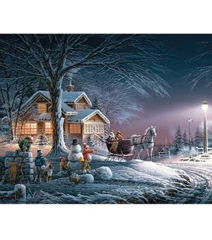 Terry Redlin 24''x30'' 1,000 pc. Puzzle-Winter Wonderland