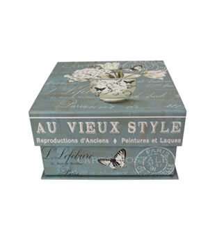 Small Square Tab Box-Blossom