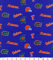 University of Florida NCAA Blue Cotton Fabric, , hi-res