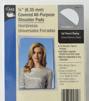 Dritz 0.25'' Covered All-Purpose Shoulder Pads 2pcs