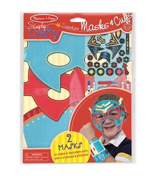 Melissa & Doug Simply Crafty Superhero Masks & Cuffs Kit-Makes 2