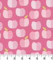 Cloud 9 Premium Cotton Fabric-Apples Pink, , hi-res