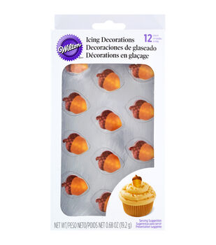 Wilton® Royal Icing Decorations 12/Pkg-Shimmering Acorns