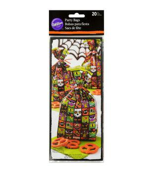 """Wilton® Party Bags 4""""X9.5"""" 20/Pkg-Jack & Ghoul"""