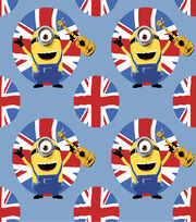 Minion British Allover Fleece Fabric, , hi-res