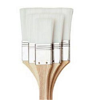 "All Purpose Large Area Brush Set 1"", 2"", 3""-White Nylon"