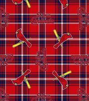St. Louis Cardinals MLB Plaid Fleece Fabric, , hi-res