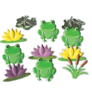 Eyelet Outlet Shape Brads-Frog Mix