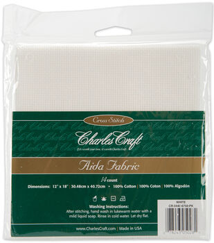 DMC Charles Craft Aida Cross Stitch Fabric 14 Count 12'' x 18''