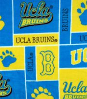UCLA NCAA Block Fleece Fabric, , hi-res