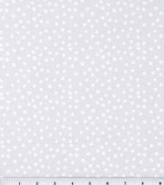 Keepsake Calico™ Cotton Fabric-Irregular White Dots On White, , hi-res