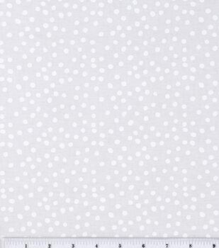 Keepsake Calico™ Cotton Fabric-Irregular White Dots On White