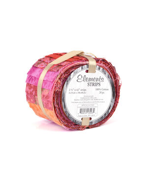 Eclectic Elements Cotton Jelly Roll Fabric-Pink Assortment
