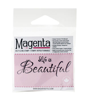 Magenta Self-Cling Stamps-Life Is Beautiful