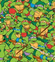 Nickelodeon Teenage Mutant Ninja Turtles Retro Flannel Fabric, , hi-res