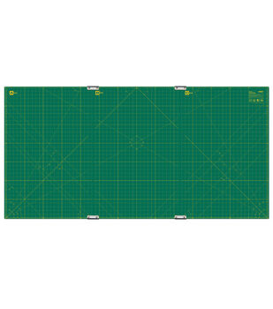 """Olfa Gridded Cutting Mat Set with Clips 35"""" x 70"""""""