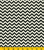 Premium Cotton Fabric-Mia Chevron Black/White, , hi-res