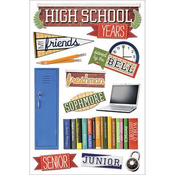 Paper House 3D Sticker High School