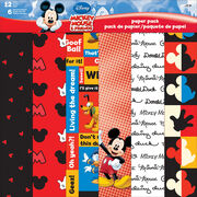 "Sandylion Disney Mickey&Friends Paper Pack 12""x12"", , hi-res"