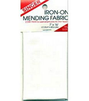 "Singer Jumbo Iron-On Mending Fabric-7""W x 16""L"