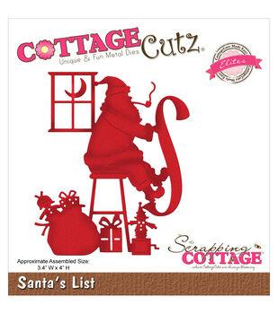 CottageCutz Elites Die-Santa's List