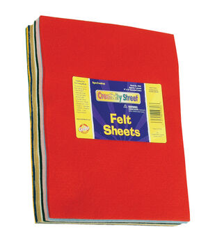 "Pound Of Felt Assortment 9""X12"" Sheets-Assorted Colors"