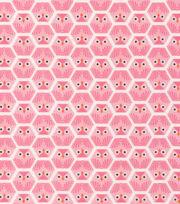 Cloud 9 Premium Cotton Fabric-Dolittles Owl Pink, , hi-res