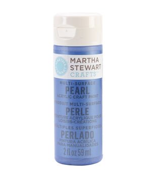 Martha Stewart Pearl Acrylic Craft Paint 2 Ounces-Cornflower