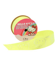 1 And Half In Hello Kitty Neon Yellow Ribbon, , hi-res