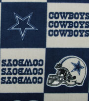 Dallas Cowboys NFL Block Fleece Fabric by Fabric Traditions, , hi-res
