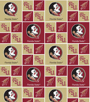 Florida State University NCAA  Cotton Fabric, , hi-res