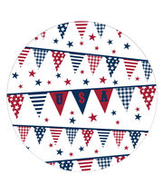 Sea to Shining Sea 8ct Paper Dinner Plates-Pennants, , hi-res