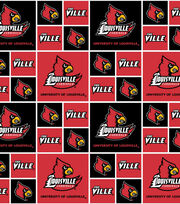 University of Louisville NCAA Block Cotton Fabric, , hi-res