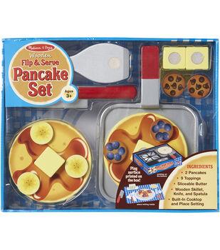 Melissa & Doug Wooden Food Set-Flip & Serve Pancakes